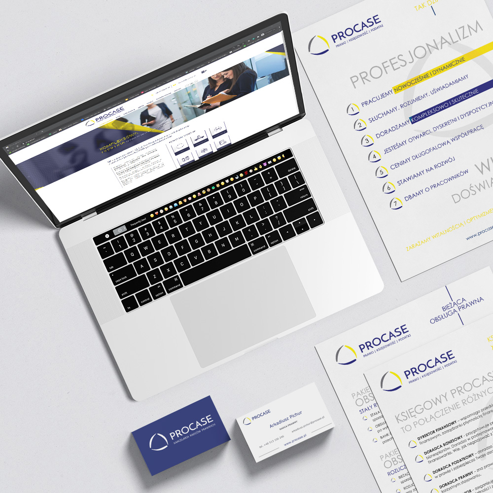 procase - strona www i materiały wizerunkowe